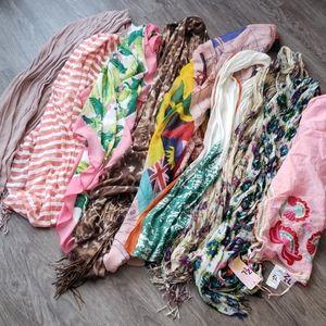 Huge Fashion Scarf Bundle Wraps Shawls Floral